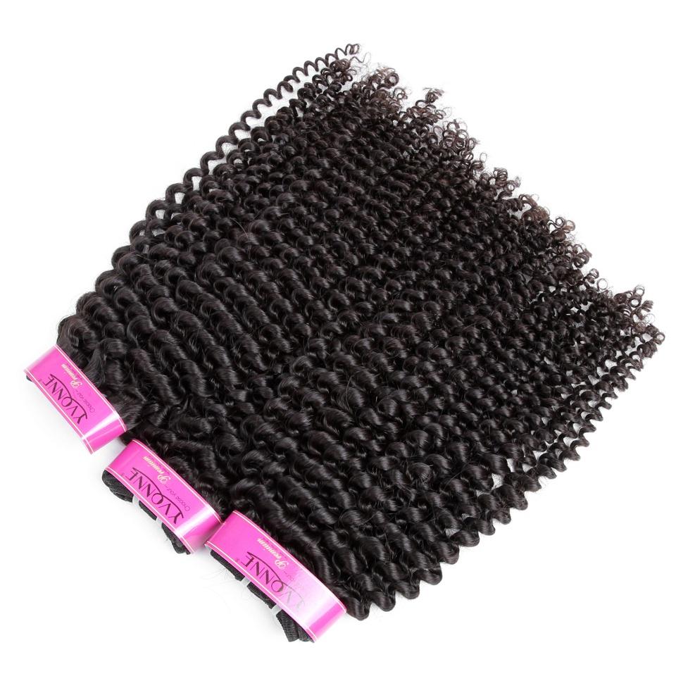 Top Quality Kinky Curly 100% Virgin Brazilian Hair Wholesale Brazilian Human Hair Extensions, Natural color #1b