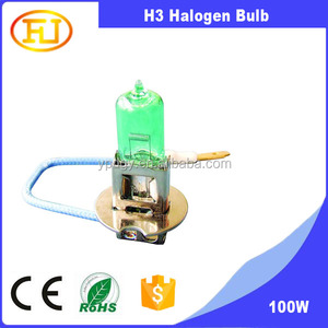 UV Glass green color h3 halogen bulb 6v 55w for motorcycle fog lamp
