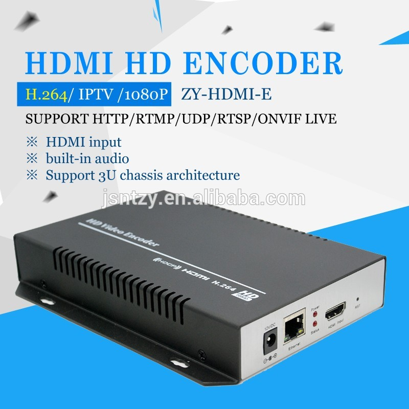 WEB interface, English and Chinese is optional for configuration interface IPTV h264 encoder