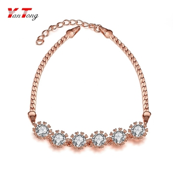 Wholesale Dubai Rose Gold Plated Jewelry Designs Cubic Zircon Stone