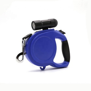 wireless auto strong plastic retractable dog leash pet 8m tangle free with led flashlight