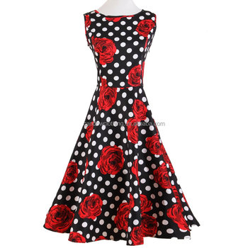 rockabilly pinup wedding party wholesale clothing dropship 50's plus size dress