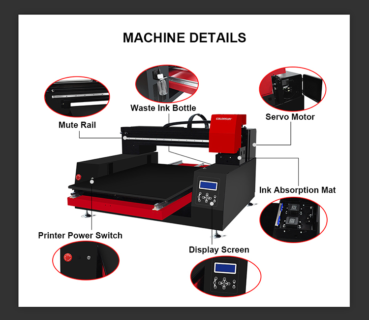 2019 new arrival 12 colors inkjet Automatic A1 6090 uv flatbed printer for Epson XP600 printhead*2pcs  UV Flatbed Printer A2+