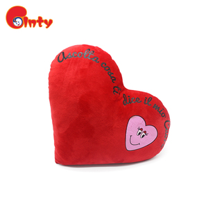Cute heart shape travel pillow plush Cushion decorative pillow
