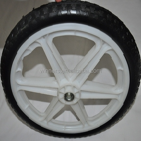 20 Inch Pu Foam Wheel/pull Cart Wheels/plastic Garden Cart Wheels ...