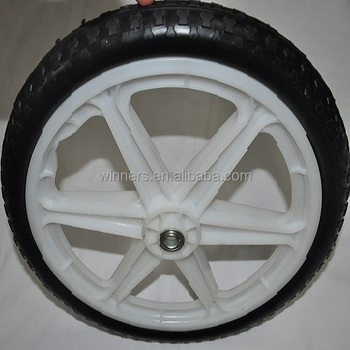 Genial 20 Inch PU Foam Wheel/pull Cart Wheels/plastic Garden Cart Wheels