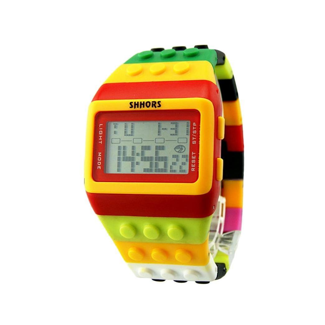 BEUU Hot Sale LED Rainbow Electronic WatchWatch Men Women Watches For Waterproof Wristwatch Fashion Watches Quartz Men Women Men'S Jewelry Sport Leather Luxury Mens