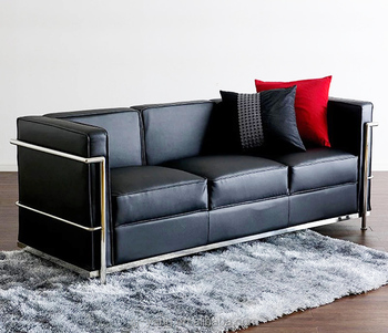 Upper Leather Covers With Stainless Steel Frame Sofa For