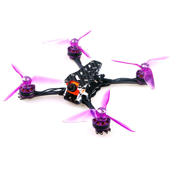 Realacc Real6 210mm Wheelbase 3mm Arm Titanium Alloy Carbon Fiber 5 Inch Frame Kit for RC Drone