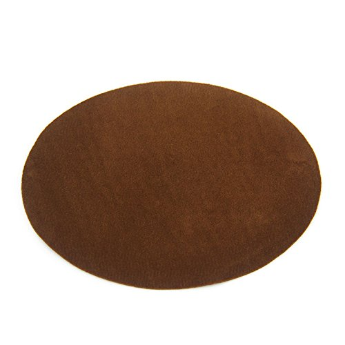 Repair Patches - 4 PCS Elbow Knee Iron-on Velvet Patches, Oval & Brown - by Beaulegan