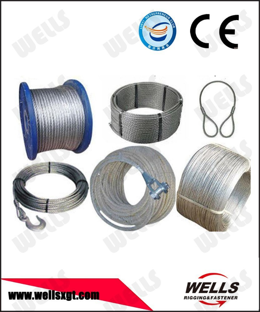 China manufacturer wire rope price