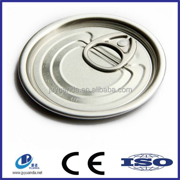High quality 307 round pull ring recycle tinplate cans cap tin can cover made in china