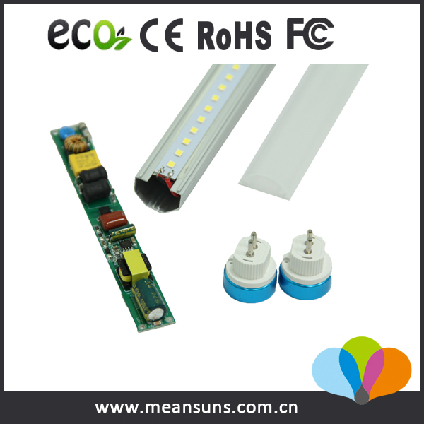 CE approved 135lm/w smd2835 24w t5 led integrated double tube