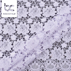 New arrival multi color guipure hollow out lace for wedding and party