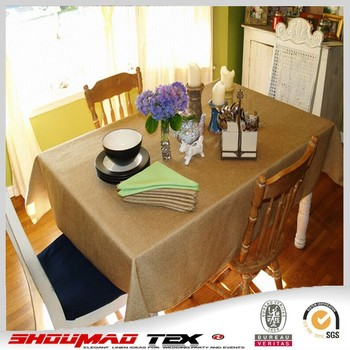 Cheap Burlap Round Tablecloth Jute Tablecloth For Hotel
