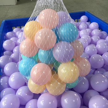 Wholesale colorful children play plastic balls indoor soft playground accessories ocean ball pit pool