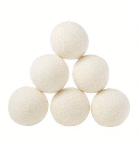 Eco Friendly China Factory Price Free Sample Wool Nepal Laundry Use Wash Wool Dryer Balls, Nature white