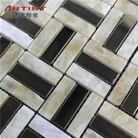Company Decoration 8Mm Thickness Marble Mosaic Mural