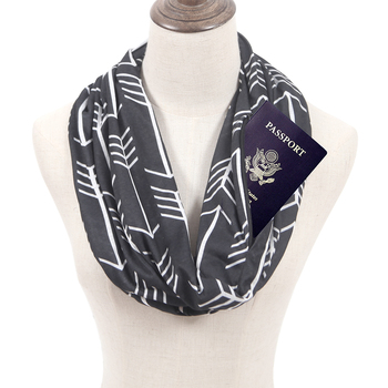 Wholesale custom multifunctional infinity scarf with pocket