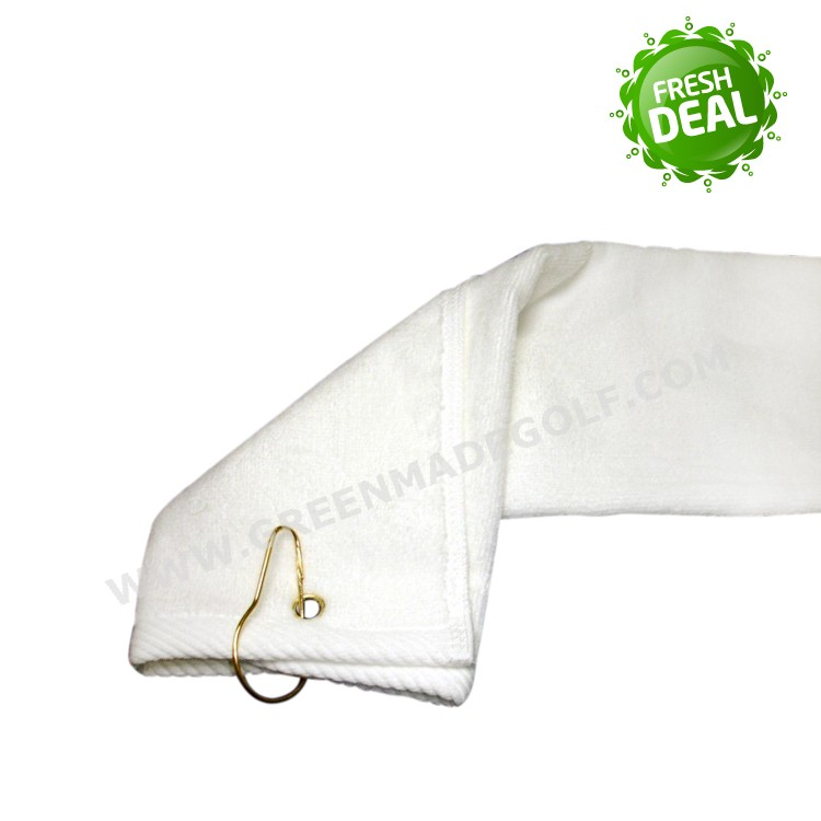 wholesale white color sports golf gym gift towels clip