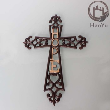 Casting Decorative Wrought Iron Cross For Home Decor