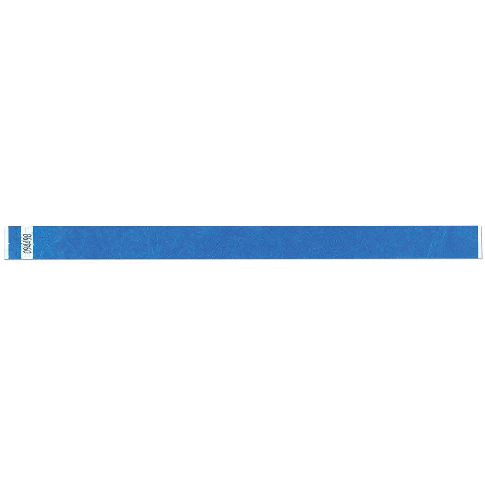3/4 Inch Tyvek Tytan-Band® Wristbands - Economical Comfortable Tear Resistant - Blue - 500 Pieces Per Box