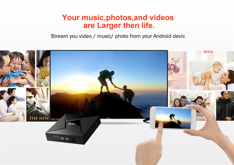 2018 newest TV Box Android 7.1 OS RAM 3G 32G ROM Amlogic S912 Octa-Core BT 4.1 TX9 PRO