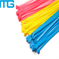 Multi Color Self-locking Flexible Cable Ties Nylon 66 Zip Ties