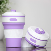 Best quality travel foldable mug Sports Silicone collapsible Coffee mugs
