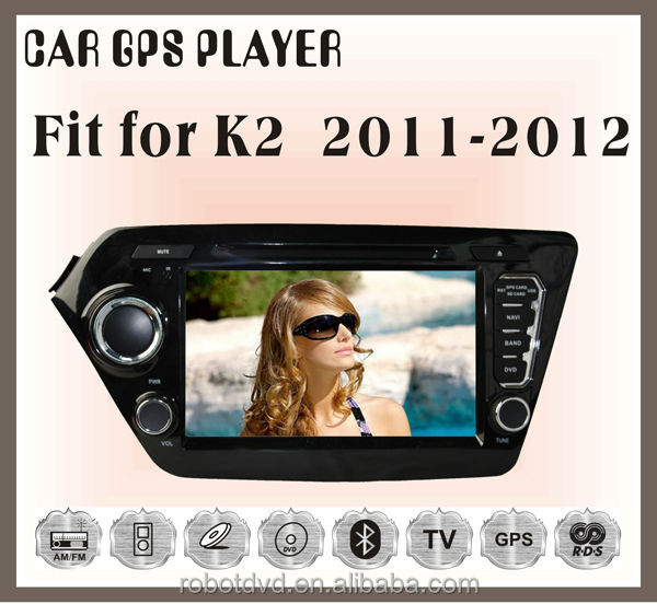 Fit for KIA K2 2011 2012 car audio gps player with reversing camera bluetooth analog tv