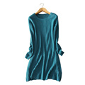 6 colors crochet mesh hollow out dress Women s pure color 100 pure cashmere winter autumn