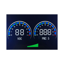 "touch color digital display lcd 3 1/2""-digit 7 segment lcd red bull display used in air purifier display"