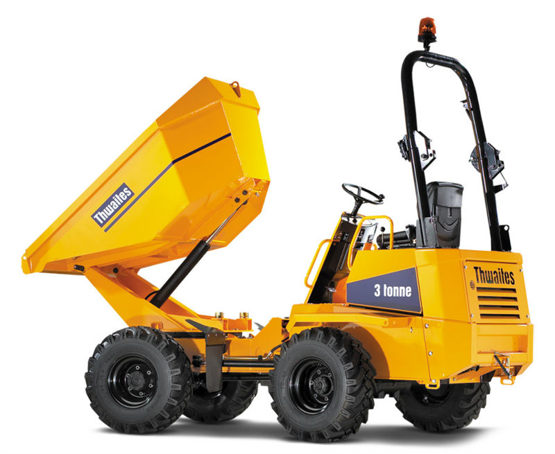 AD3TON SITE DUMPER 4 X 4, POWERED BY 24.8 KW YANMAR 3-CYLINDER WATER COOLED DIESEL ENGINE, 3 TON PAYLOAD, HYDRAULIC FRONT TIPPIN