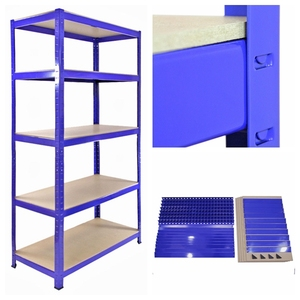 Warehouse slotted angle boltless rack
