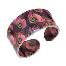 Bonsny акриловый браслет в виде птицы с разноцветным узором, браслет в виде павлина, новинка 2017, модные украшения для женщин и девочек, аксессуа...(Китай)