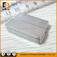Block shape N52 neodymium magnet 500kg 50x25x10mm fridge magnet letters font for sale