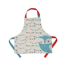 Hot sale kitchen and gardening dirt proof various printing cotton kid's apron with custom design