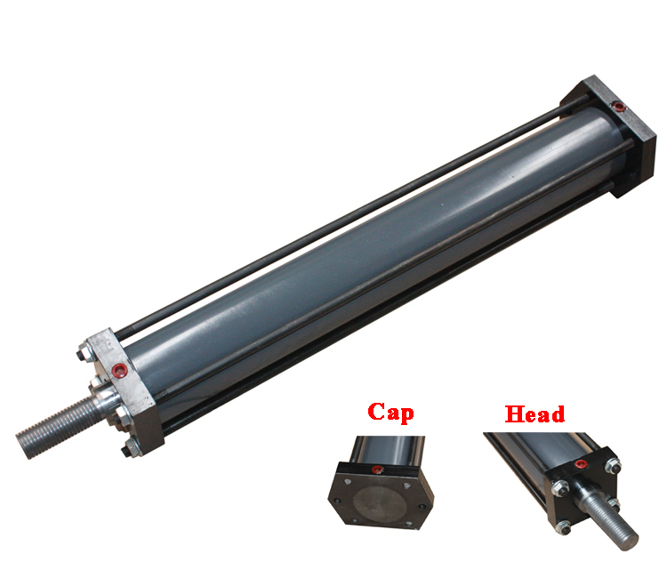 Cylinder Head Welding Rod: Oem Hydraulic Type Tie Rod Cylinder With Flange Mounting