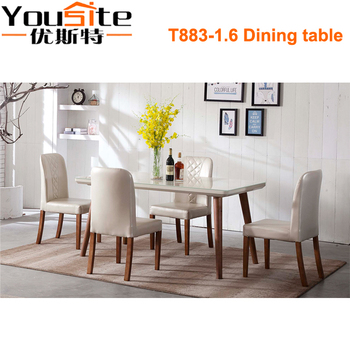 Foshan Shunde Furniture Wholesale Modern Style Wooden Dining Table and Chairs