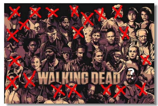 the walking dead twd tv season 4 3 silk wall poster 48x32 36x24 30x20 20x12 inch prints zombie. Black Bedroom Furniture Sets. Home Design Ideas