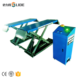 Mid rise movable scissor car lift--T58-M mini car lift hydraulic car jack lift
