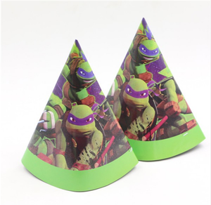Kid Birthday Party/Festival Decoration Party Event Children's Favors Supplies Ninja Turtle Cartoon Theme Paper Cap/hat