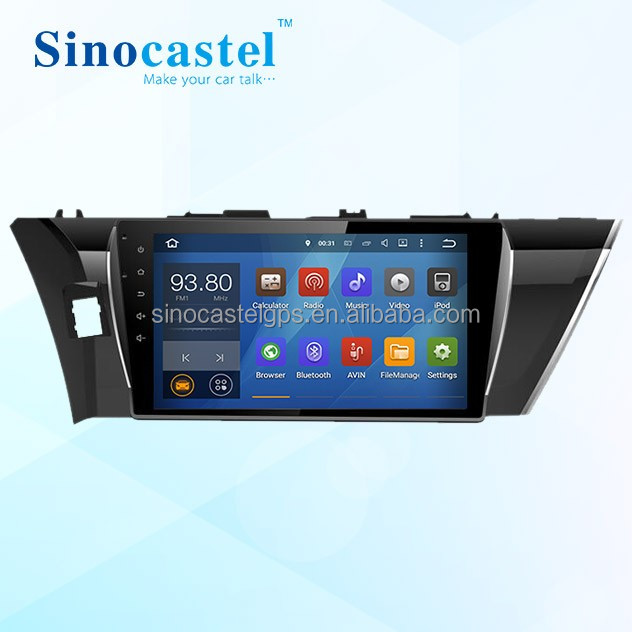 Double Din 10.1 Inch Android Car Entertainment Multimedia System With GPS <strong>Toyota</strong> <strong>Corolla</strong> 2014 Support FM AM <strong>Tuner</strong> & Radio RDS