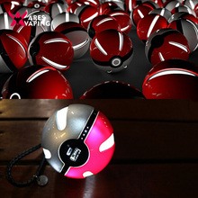 2016 New Design Pokemon Power Bank 10000mAh Pokemon Go Poke Ball Shape Power Bank USB LED