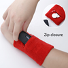 Cheap custom sweatbands pocket wristband sport wrist sweatband with pocket