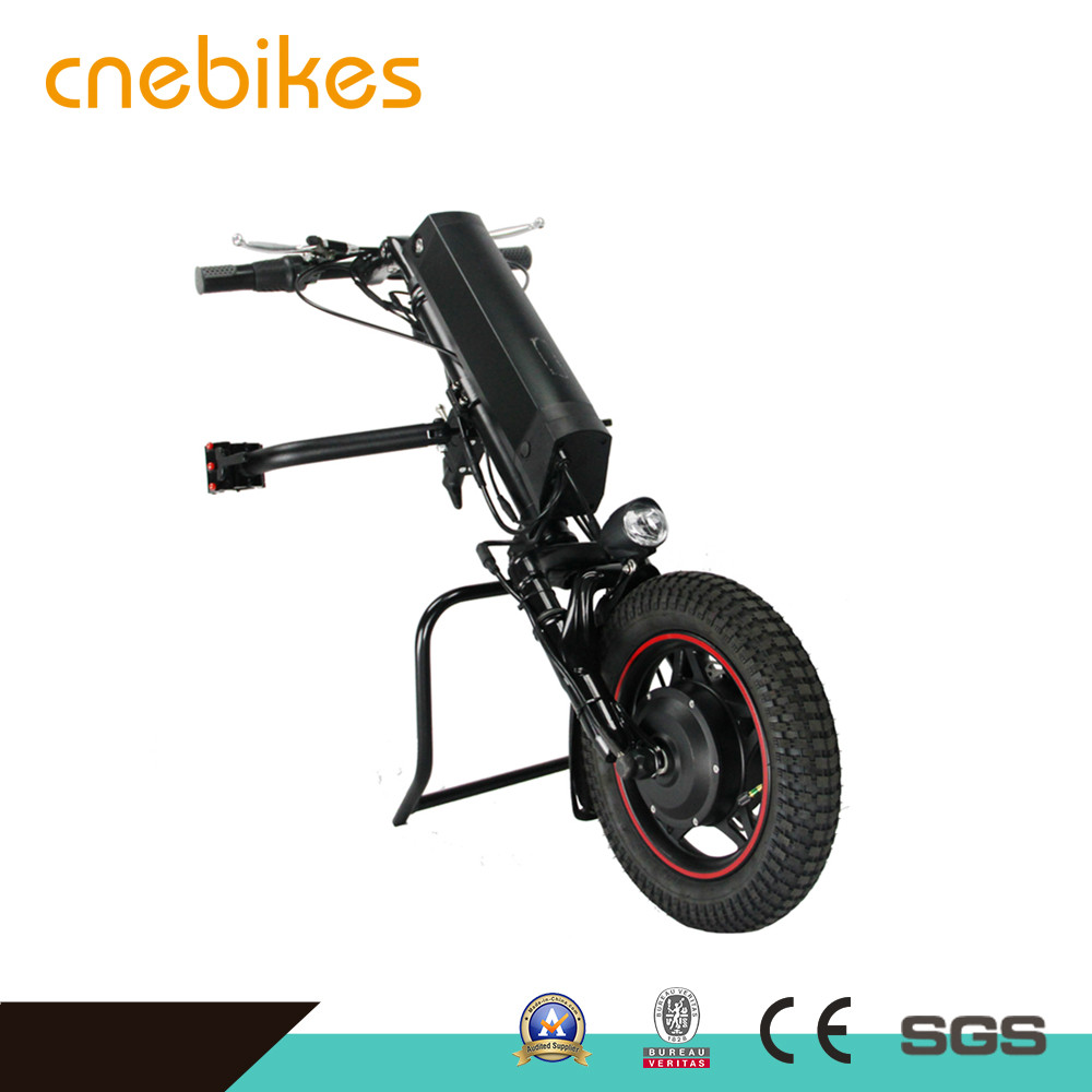 Rehabilitation Therapy Supplies 12 inch 36v 350w fork suspension Electric handcycle for wheelchair