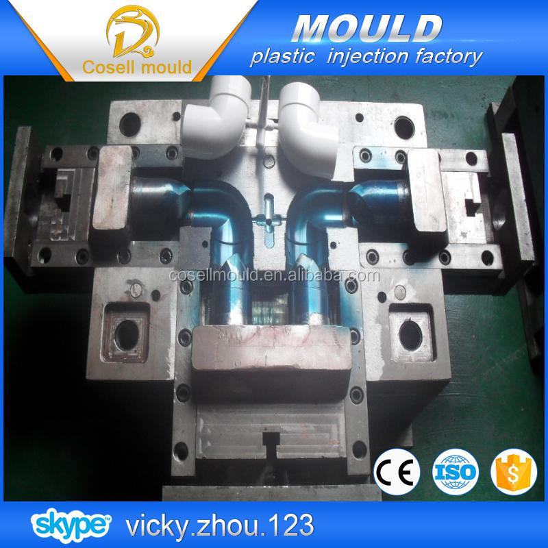 precision pvc pipes injection mould/pvc pipe universal joint injection mould/bench pipe mould
