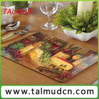 High Quality paper bonded solid cork backed table mat
