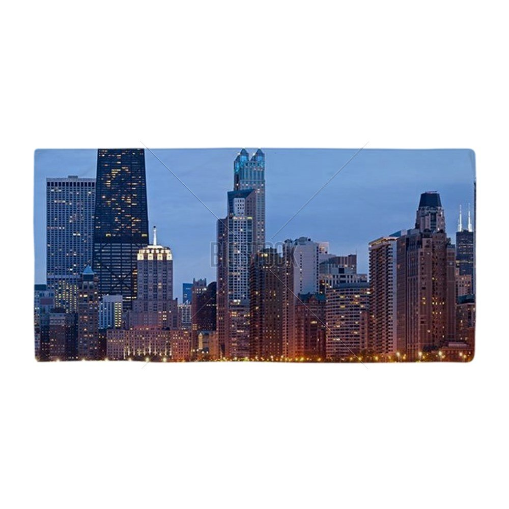 "CafePress - Chicago Skyline. - Large Beach Towel, Soft 30""x60"" Towel with Unique Design"