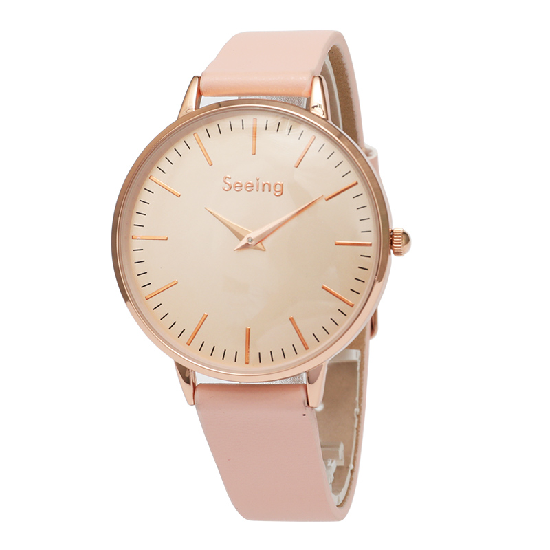 Wholesale leather bracelet geneva band dress colorful MOP fashion Vogue lady alloy wristwatch woman waterproof, N/a